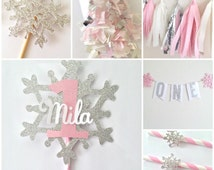 Winter Onederland Party in a Box ~ Winter Onederland ~ Onederland Party ~ Winter Wonderland Christmas Party Decorations