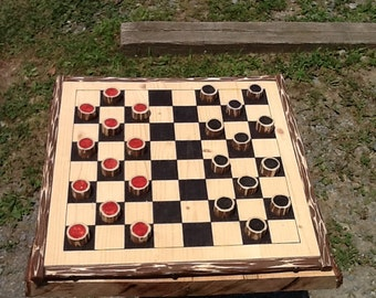 Rustic Infusion Checkerboard, Handcrafted