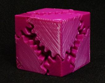 Fidget Widget Gear Cube Fuchsia(Free Shipping)