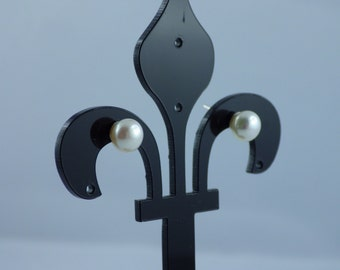 925 Silver earrings and 6 mm cultured pearl