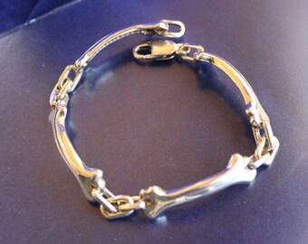 Dog Bone Bracelet Sterling Silver Free Shipping