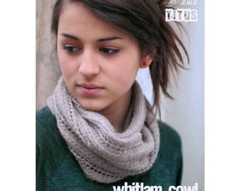 Whitlam Cowl. Knitting pattern.