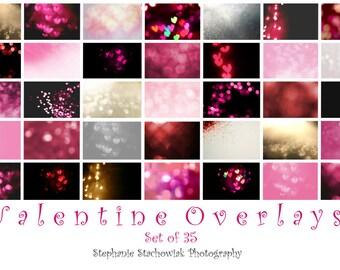 Valentine Overlay,Valentine Bokeh Overlay, Heart Overlay,Valentine Heart Bokeh Overlay,Textures,Red, Pink, Heart,  Instant Download