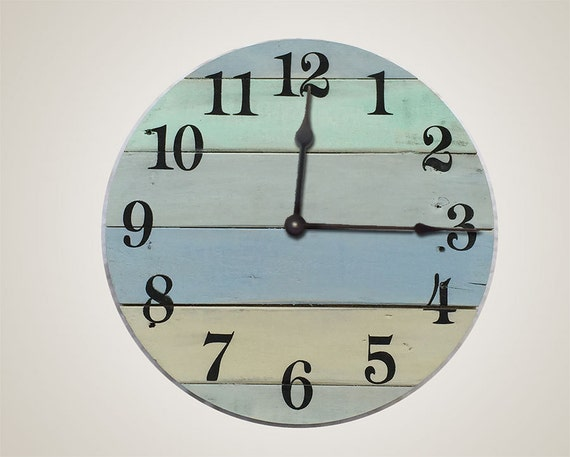 Beach House Wall Clock 16 Wide Lake House Clock Beach Wall