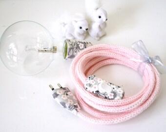lamp lamp pink knitting mill and LIBERTY Mitsi, knitting mill