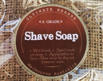 Ultimate Shave Soap by Ultimate Beards packaged in Ultimate Beards gift bag. Free shipping when any other item purchased!