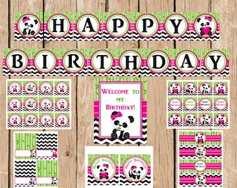 Panda Instant Download Party Package