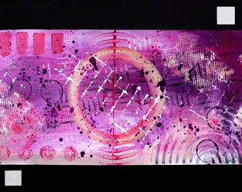 Pink - Contemporary modern abstract painting