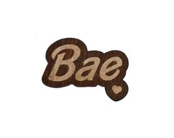 Bae Laser Cut Lapel Pin
