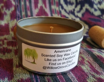 Americano Scented Soy Candle 6 oz.