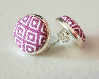 SALE Gorgeous fabric earrings