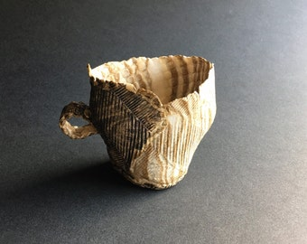 Paper Thin Layered Porcelain and Stonewares, Espresso Cup Tea Sculpture