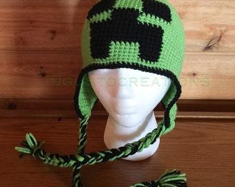 Minecraft Hat, Minecraft Beanie, Creeper Beanie