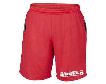 Mens Angels Shorts Red Sizes Small - 2XL