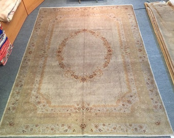 Hand Made Oushak ( USAK ) Palace Carpet 9 ' 5'' x 7 ' (287x218)