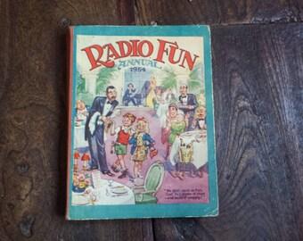 Vintage Annual. Radio Fun Annual 1954. Children's, Childs, Kids Book. Collectable Gift Idea