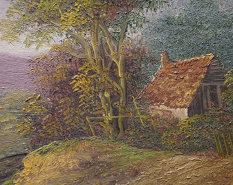 Charles Greville Morris Two Small Landscape Paintings