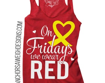 On Fridays We Wear RED Tri-blend Tank