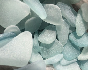 Light blue Japanese sea glass