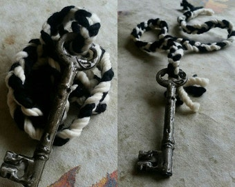 Goddess Hekate Ritual Cord, with wool and key