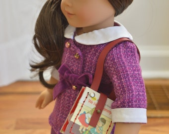 "We Help Mommy Book Purse for 18"" play dolls such as American Girl® Dolls"