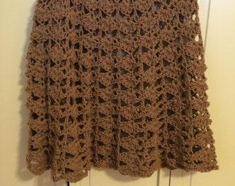 Hand Crocheted Skirt, size 8/10