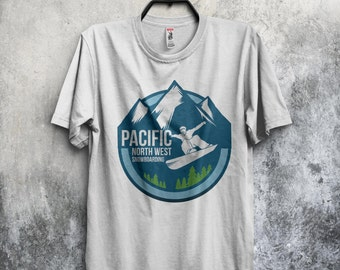 Northwest, Pacific NW, Snowboarding T-Shirt