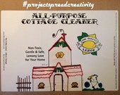 All-Purpose Cleaner - Lemony Love Cottage Cleaner - Chemical-Free and Handcrafted with Organic Ingredients!!