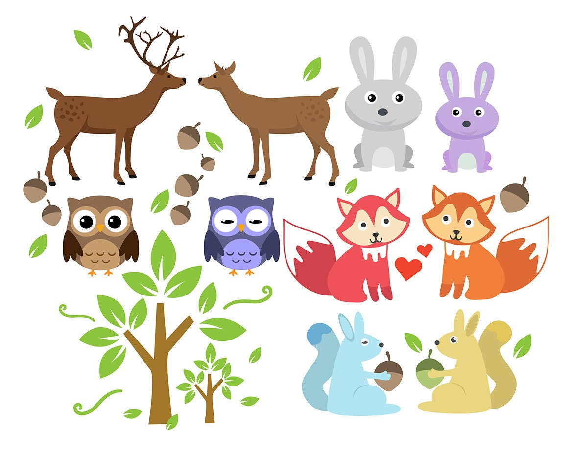sale    forest animal clipart animals clip art set deer forest animals clip art forest animals clip art in black and white