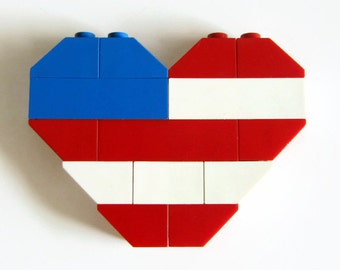 USA Flag-Independence Day-Fridge Magnet-Heart Shape-4th of July Gift-Fridge Magnets-American Flag Magne-Fouth of July-USA Magnet-Geeky Gift