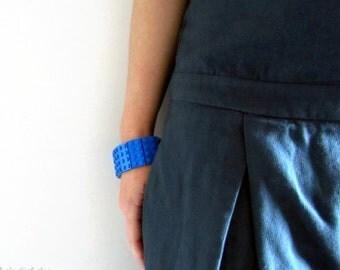 LEGO® bracelet made with 2x4 plate LEGO® bricks, Total Blue Bracelet,  LEGO® Jewellery, Cuff Bracelet, Geek's Bracelet, Unique Gifts,Geekery