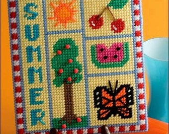 Summer Sampler in Plastic Canvas Pattern