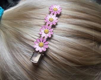 Daisy flower hair clips brides maids hair accessories beach bride updo hairstyle wedding clips/pins