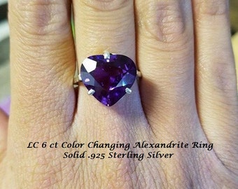 LC 6 ct Color Changing Alexandrite Ring
