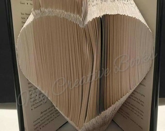Heart with Crown - Book Folding PATTERN Only