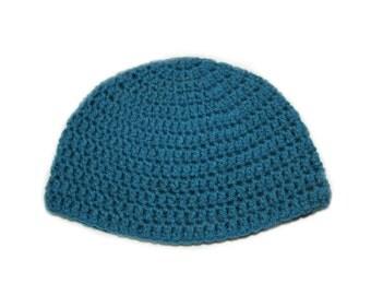 Teal Children's winter hat, crochet beanie, crochet winter hat, children's hat
