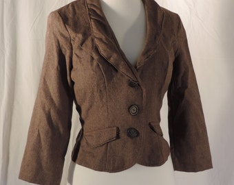 altered steam punk jacket fitted waist coat