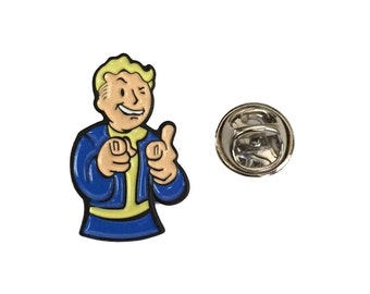Fallout Vault Boy Thumbs Up Enamel Finish Metal Costume Accessory Pin
