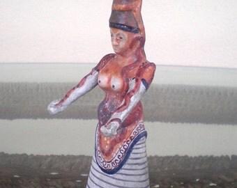 For Sale Minoan Art Small Snake Goddess - Palace of Knossos - Symbol of Fertility