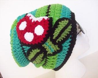 Mario Piranha Plant Hat / Slouchy / Beanie