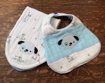 Bib and Burp Cloth Set, Baby Bib, Burp Cloth, Baby Gift Set,Baby Shower Gift