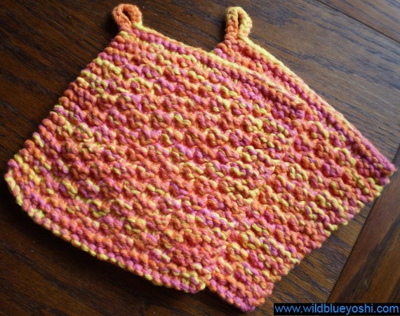 Double Knit Potholder Pattern : Items similar to Crochet Pot holders on Etsy