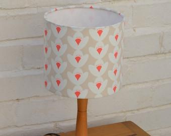 Cream Lamp shade, Floral Lamp shade, Handmade Lampshade, simple home decor, floral decor, fabric lamp