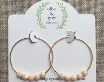Earrings, Hoop Earrings, Beaded Earrings, Gifts for her