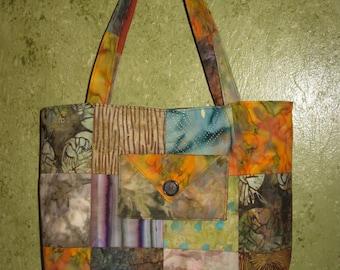 Tote Bag - Warm Batik Shade #1