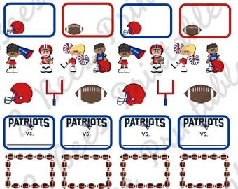 Printable New England Patriots Stickers for Planners