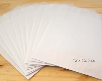 50 covers gifts white kraft 12 x 15.5 cm, gifts, presents, kraft envelope package