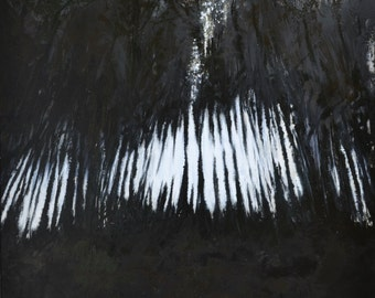 Original abstract oil painting 'Forest Fringe'