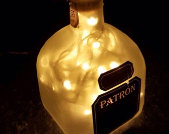 Upcycled Patron xo cafe bottle lamp by JCLamps