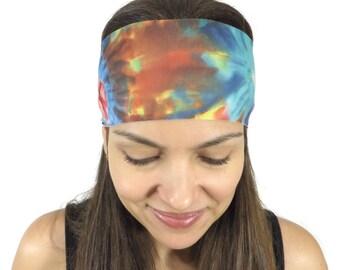 Yoga Headband Workout Headband Nonslip Headband Tie Dye Wide Headban Running Headband Women's Turban Fashion Hair Wrap Fitness Headband  S53